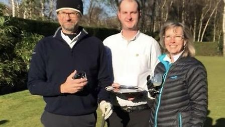 Pictured from left to right at the Captain's Drive In at King's Lynn Golf Club are club captain Neil