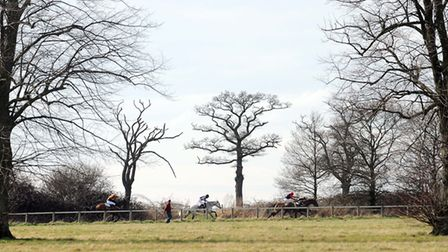 Point to point racing is expected to resume at Ampton on Sunday. Picture: Phil Morley