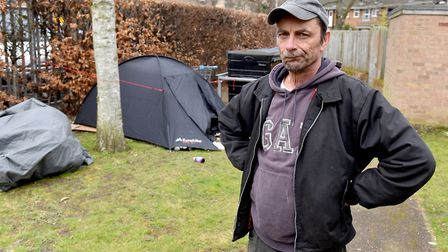 Martin Verney from Fishergate, Norwich has homeless people living in his back garden.Picture: Nick B
