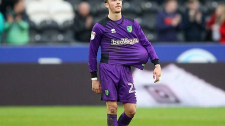 James Maddison ends up with the matchball but on the losing side for Norwich City at Hull City. Pict
