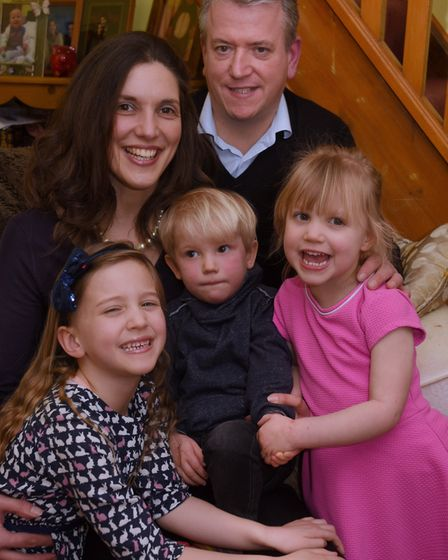 Natasha Williams with her family, husband Chris, and Isabella, five; Summer, three; and Luca, two. P