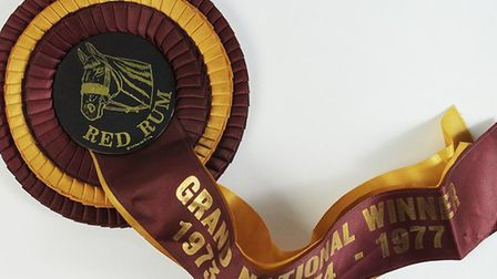 This rosette (Lot 950) was worn by one of the world's most famous racehorses - Red Rum, three times