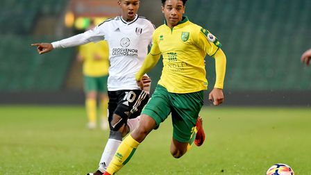 Premier League 2 action between Norwich City U23's and Fulham U23's at Carrow Road.Picture: Nick But