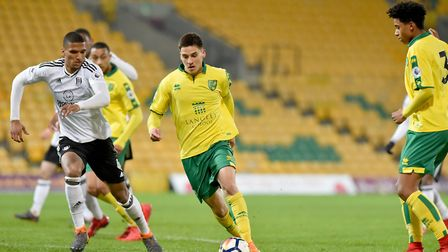 Premier League 2 action between Norwich City U23's and Fulham U23's at Carrow Road. Savvas Mourgos i