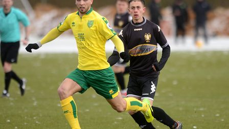 Adam Phillips, in action against Bury last week, has been playing for City's U23s due to a lack of g