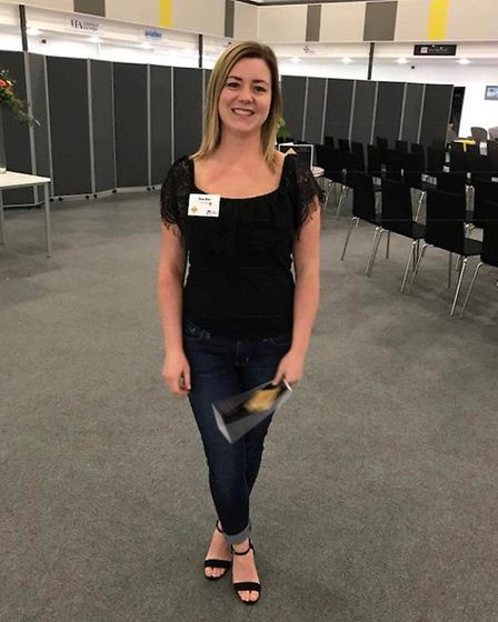 Tara Box was named Health Apprentice of the Year. Picture: Courtesy NNUH