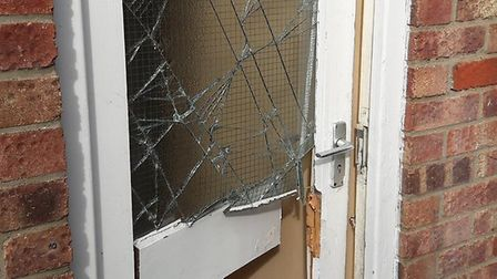 Officers executed a warrant at Bull Close Road as part of Operation Gravity. Picture: Norfolk Police