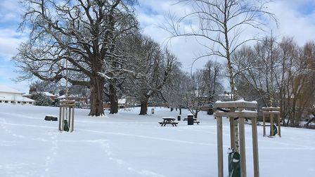 Diss Park in the Snow. Picture Sabrina Johnson