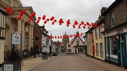 The Heritage Triangle in Diss during Chinese New Year. Photo: Harriet Orrell