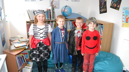 Children at Bunwell Primary School dressed up as their favourite book characters. Picture: Bunwell P