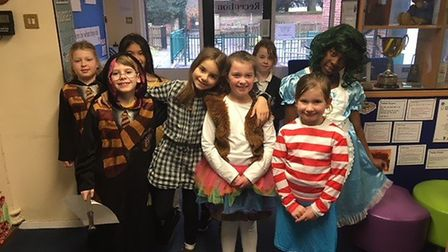 Children dressed up for World Book Day at Old Catton Junior School. Picture: Old Catton CofE VC Juni