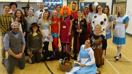 Staff at Queen's Hill Primary School dressed up for World Book Day last week when the school stayed