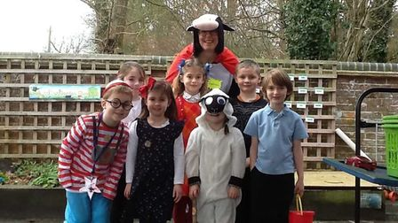 Children dressed up for World Book Day II at Shelton with Hardwick Community School. The children ev