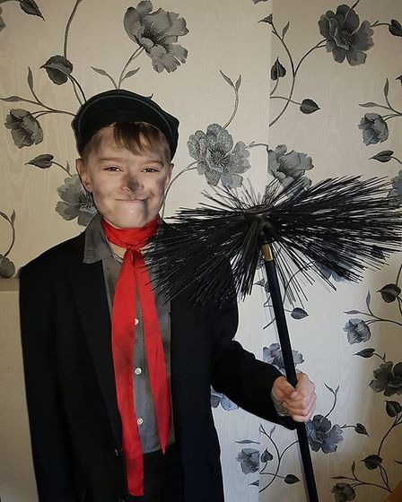 Charlie Vincent, aged 10, as Bert from Mary Poppins. Picture: Michaela Vincent