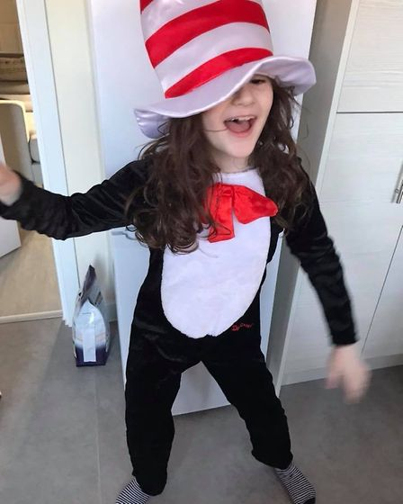 Analise, aged 7, as the Cat in the Hat. Picture: Collette Connolly