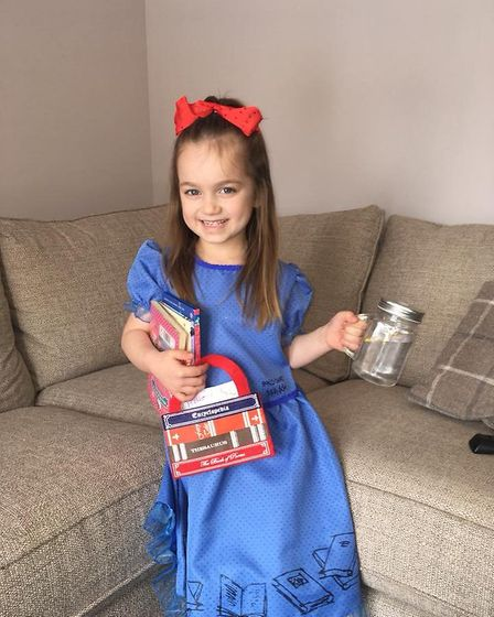 Ava, aged 6 as Matilda. Picture: Sophie Stocker