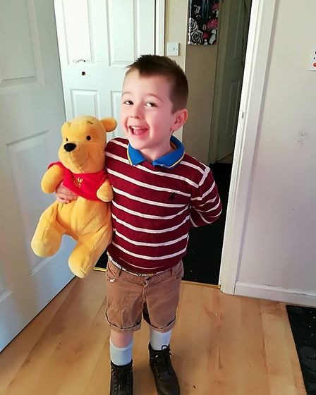 Archer, aged 4, as Christopher Robin. Picture: Shannen White