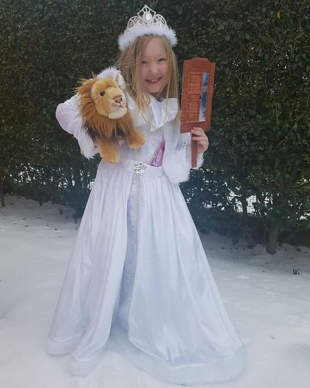Hollie Marshall, aged 6, dressed up as The Lion, The Witch and The Wardrobe. Picture: Jenny Marshall