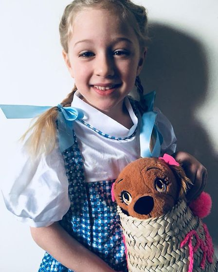 Ruby Girling, aged 6, as Dorothy from the 'Wizard of Oz'. Picture: Georgina Girling