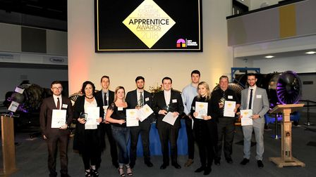Award winners at City College Norwich 2018 Apprenticeship Awards. Photo: Norfolk Educational Service