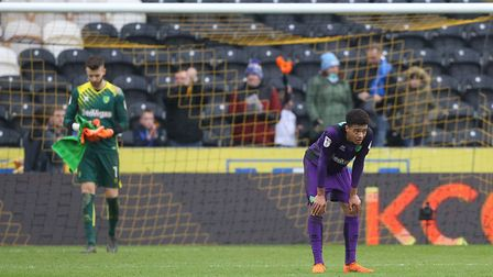 Jamal Lewis had a tough afternoon at Hull. Picture: Paul Chesterton/Focus Images Ltd