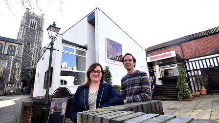 Alice Wright, new general manager of the Maddermarket Theatre, with director of productions, Jez Pik