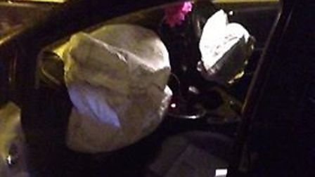 """The force of the impact set off the airbags in his Seat Leon FR, smashed his windscreen and """"knocked"""