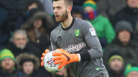 Angus Gunn has been in fantastic form for Norwich City during a successful loan stint. Picture: Paul
