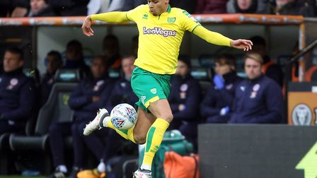 Josh Murphy played a key role in City's 3-2 home win over Reading, during his 100th appearance. Pict