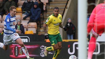 Cuban winger Onel Hernandez was a lively figure as the Canaries beat Reading at Carrow Road. Picture