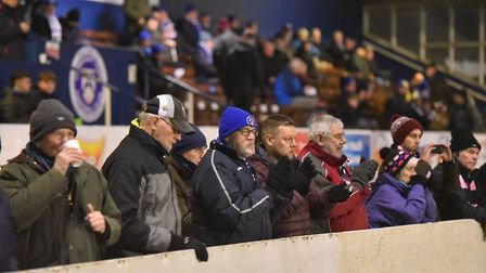 Hard times for the Lowestoft Town faithful. Picture: Nick Butcher
