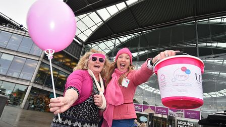 Think Pink and Blue Monday in January raised awareness of the research and the symptoms of the cance