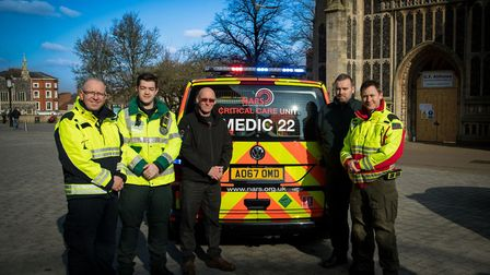 NARS with their new rapid response unit and flagship vehicle