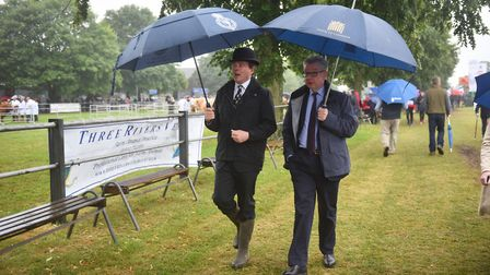 Michael Gove at the Royal Norfolk Show. Picture : ANTONY KELLY