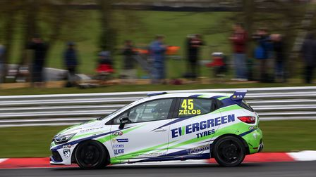Dan Zelos in the Everygreen Tyres-supported Renault Clio at Brands Hatch last year on his way to his