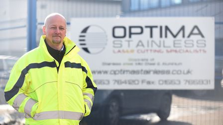 Andy Knowles at Optima Stainless in King's Lynn. Picture: Ian Burt