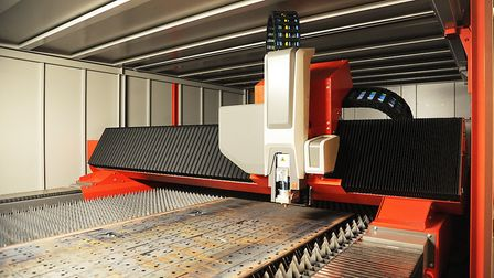 Optima Stainless in King's Lynn have spent 1m on a new laser cutting machine. Picture: Ian Burt