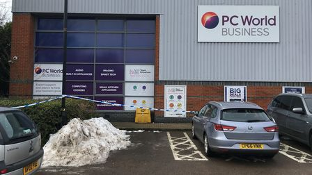 Police are investigating reports of a break-in at the Currys/PC World in Sweetbriar Retail Park. Pho