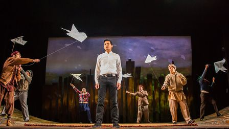 The Kite Runner: Raj Ghatak as Amir, with other cast members of this gripping production. Photo: Bet