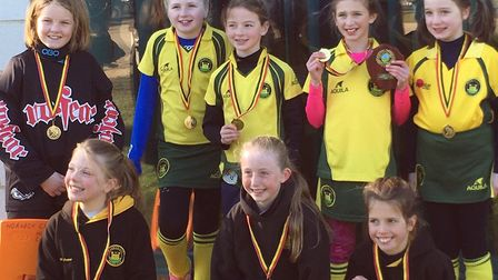 Norwich City's Under-10 girls are all smiles after winning the county title. Picture: Club