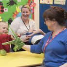 Karyn Roe brings her KarynTime therapeutic puppets to Hall School in Norwich. Picture: Robert Scarfe