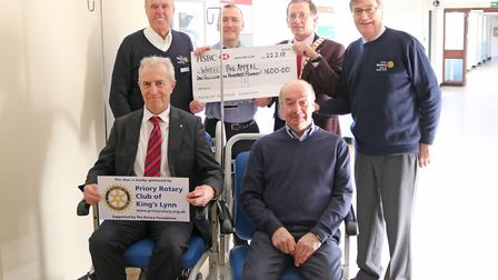 The Priory Rotary Club of Kings Lynn support the Wheely Big Appeal by sponsoring two chairs. Picture