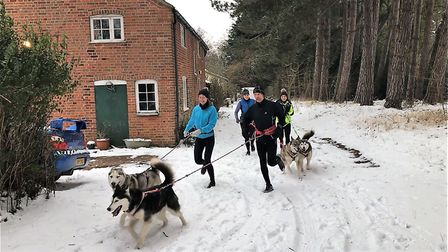 Neil Featherby has been out with his running group this week. Picture: Neil Featherby