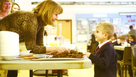 Since the snow hit, teachers and staff have been the caterers at Downham Preparatory School and Mont