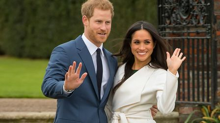 Prince Harry and Meghan Markle, whose wedding service will be conducted by the Rt Rev David Conner.