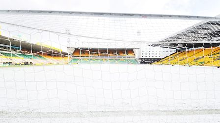 A snow-covered Carrow Road. Once that's cleared the undersoil heating does the rest. Picture: Nick B