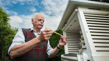 Norman Brooks has been taking weather readings for 60 years. Photo: Bill Smith