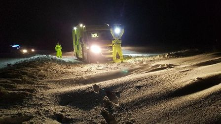 East of England Ambulance Trust (EEAST) crews praised for their work in the snow. Photo: Rob Adams