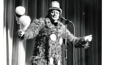 Sir Ken Dodd performing at Norwich Theatre Royal in 1983. Picture: ARCHANT/JEEVES
