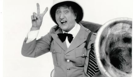 Comedy entertainer Sir Ken Dodd performing before his London Palladium performance in 1990. Picture: